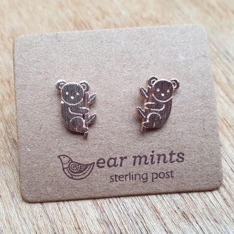 Koala Ear Mints Earrings - Rose Gold