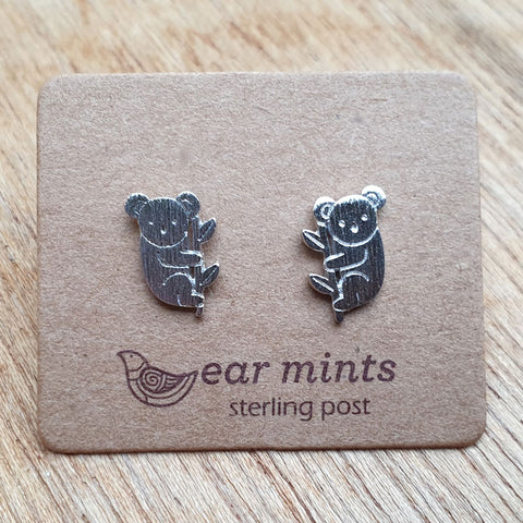 Koala Ear Mints Earrings - Silver