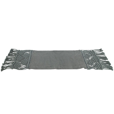 Grey Table Runner - Handcrafted - The Chic Nest