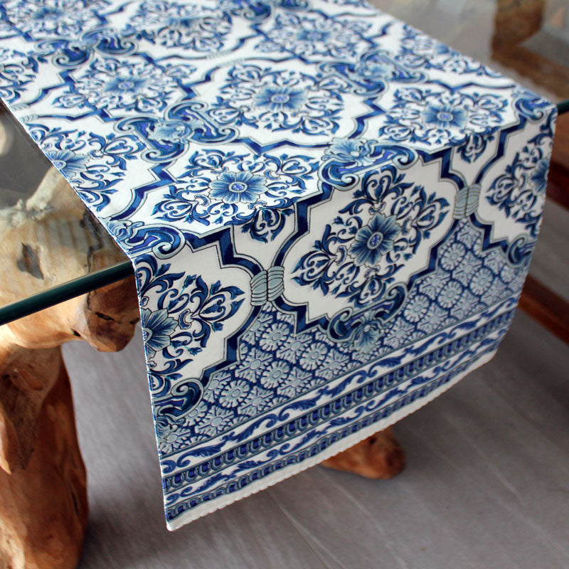 Lapis Table Runner - Handcrafted - The Chic Nest