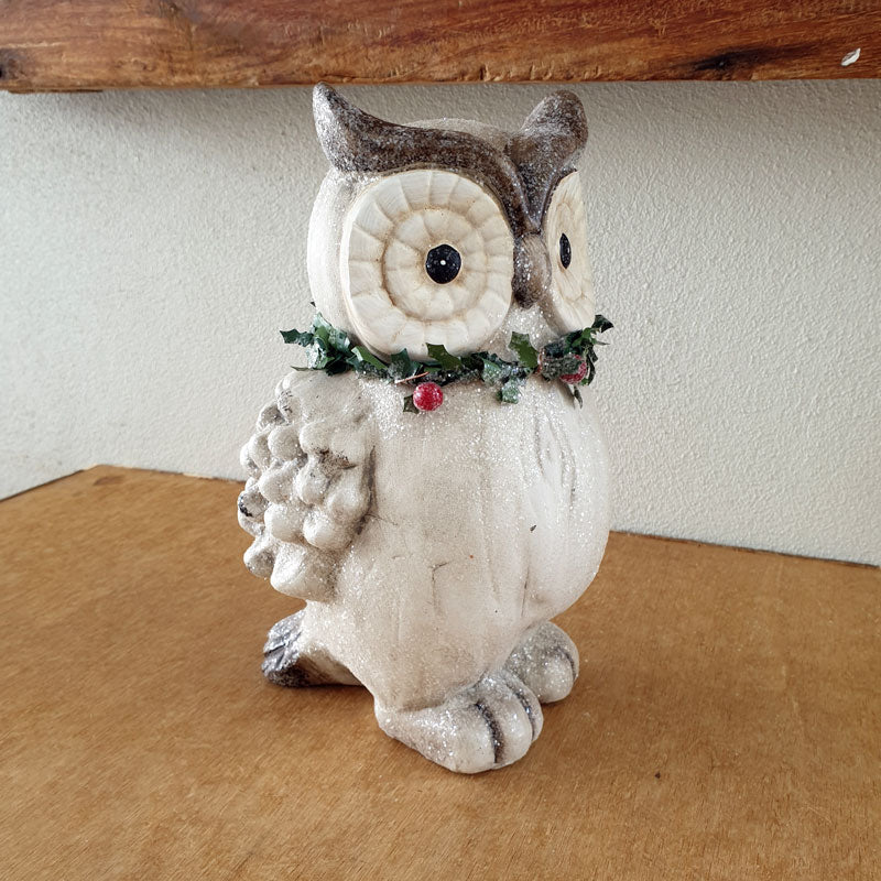 Christmas Owl Figurine - Large - The Chic Nest