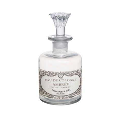 Large Eau De Cologne Bottle With Glass Stopper - The Chic Nest