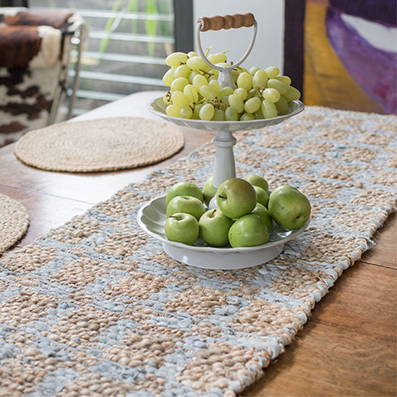 Woven Leather Table Runner - Handcrafted - The Chic Nest