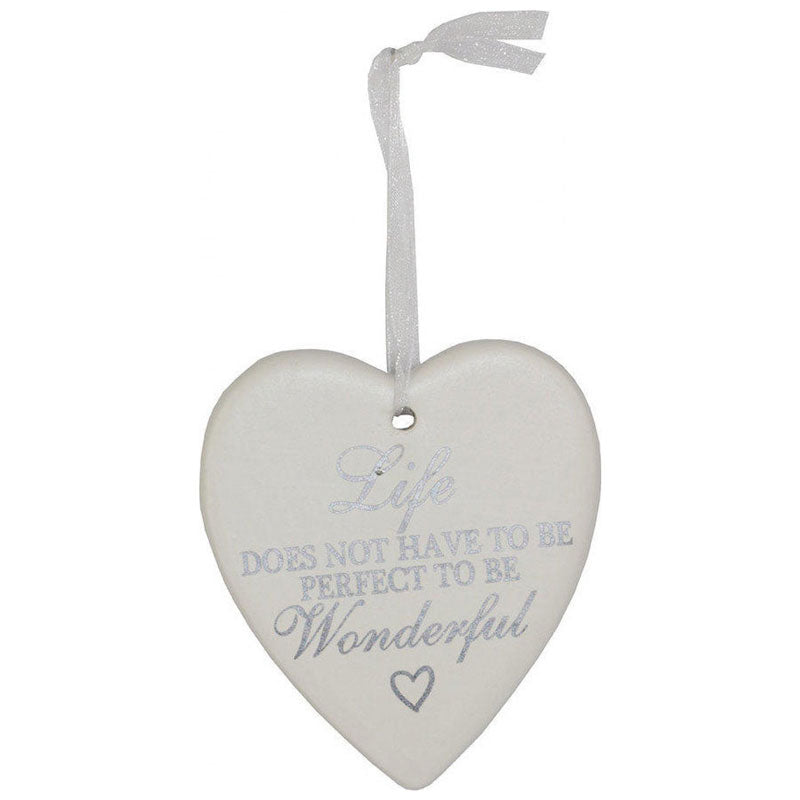 Life Doesn't Have To Be Perfect Hanging Heart Ornament