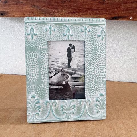 Mint Lilia Photo Frame