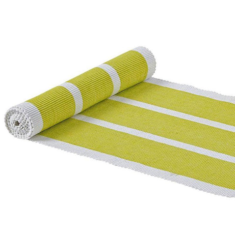 Lime Striped Table Runner