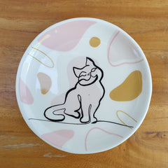 Linear Design Cat Trinket Dish - The Chic Nest