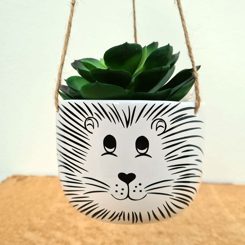 Lion Hanging Planter  - Medium