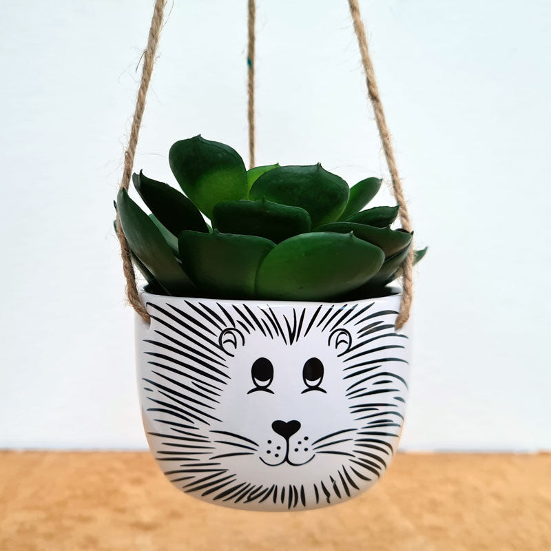 Lion Hanging Planter  - Small
