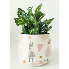 Llama Linear Drawing Ceramic Planter Pot - The Chic Nest