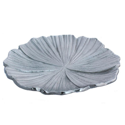 Silver Lotus Plate - The Chic Nest