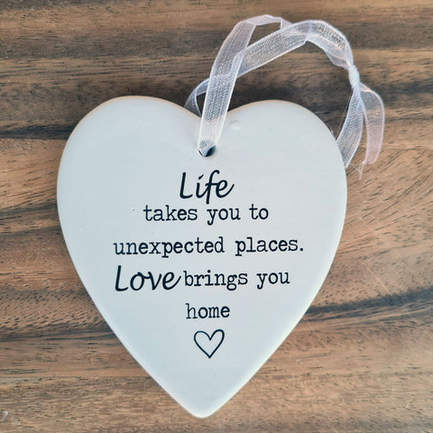 Live and Love Hanging Heart Ornament
