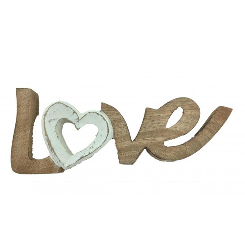 Love Wooden Word Sign - The Chic Nest