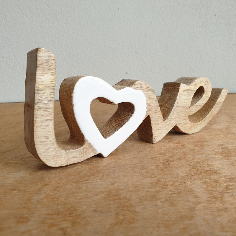 Love Wooden Word Sign