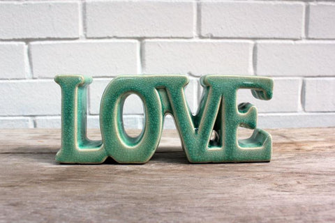 Love Ceramic Word Sign - The Chic Nest