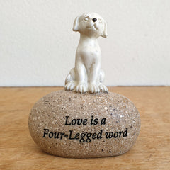Love is a Four Legged Word Figurine - The Chic Nest