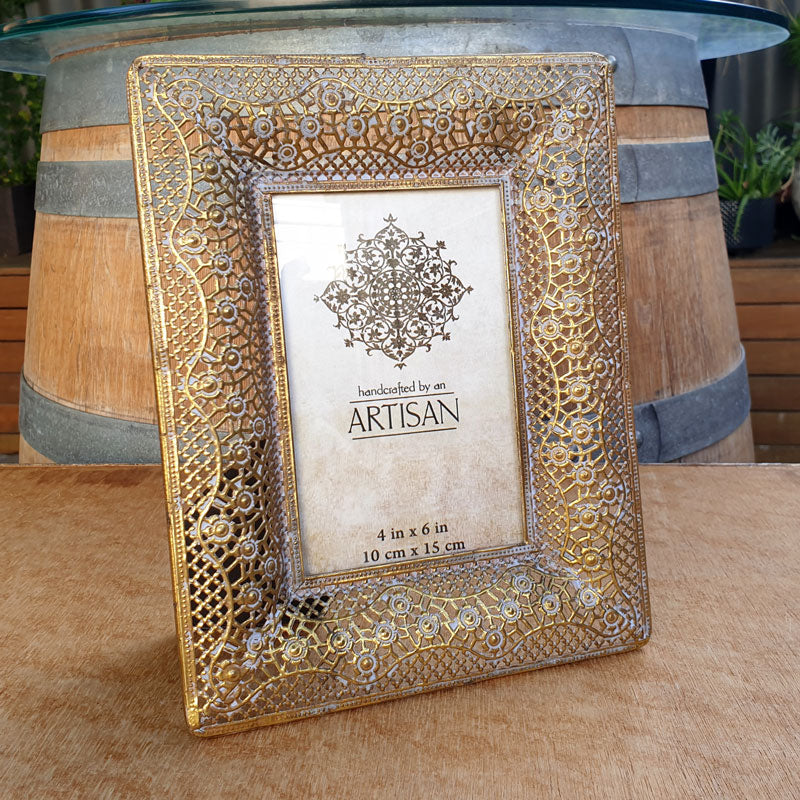 Gold Lustre Photo Frame 4 x 6