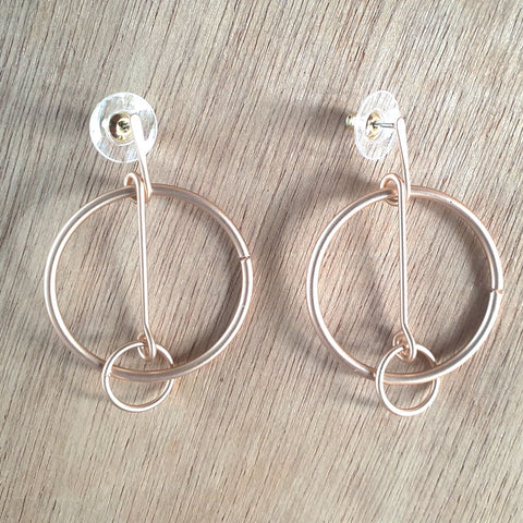 Matt Rose Gold Hoop Earrings