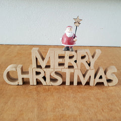 Merry Christmas Santa Wooden Sign
