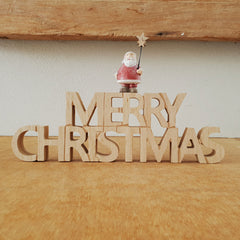 Merry Christmas Santa Wooden Sign - The Chic Nest