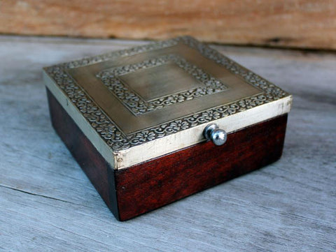 Metal & Wood Box - The Chic Nest