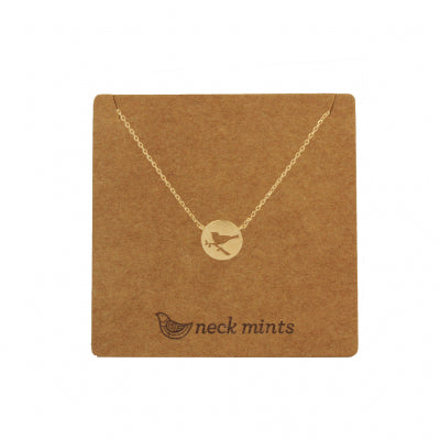 Mini Bird in Tree Necklace Gold - Neck Mints