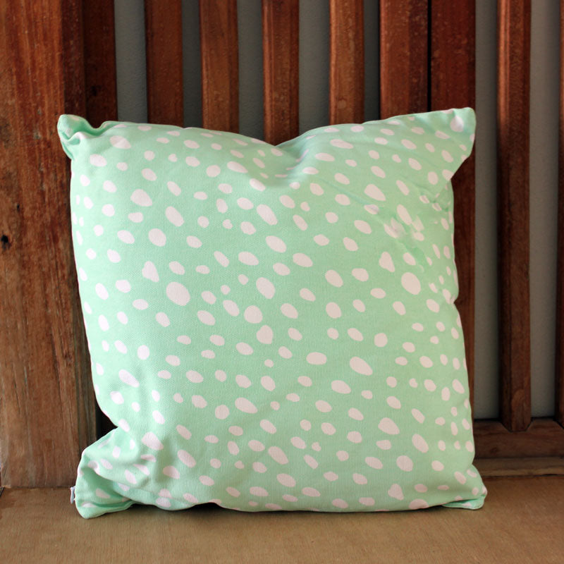 Mint Confetti Cushion