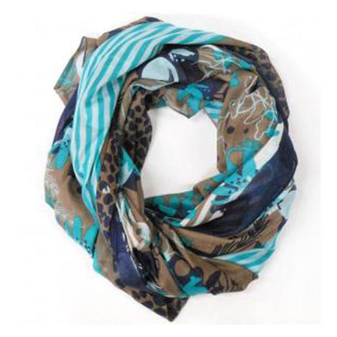 Mint Patterned Scarf - The Chic Nest