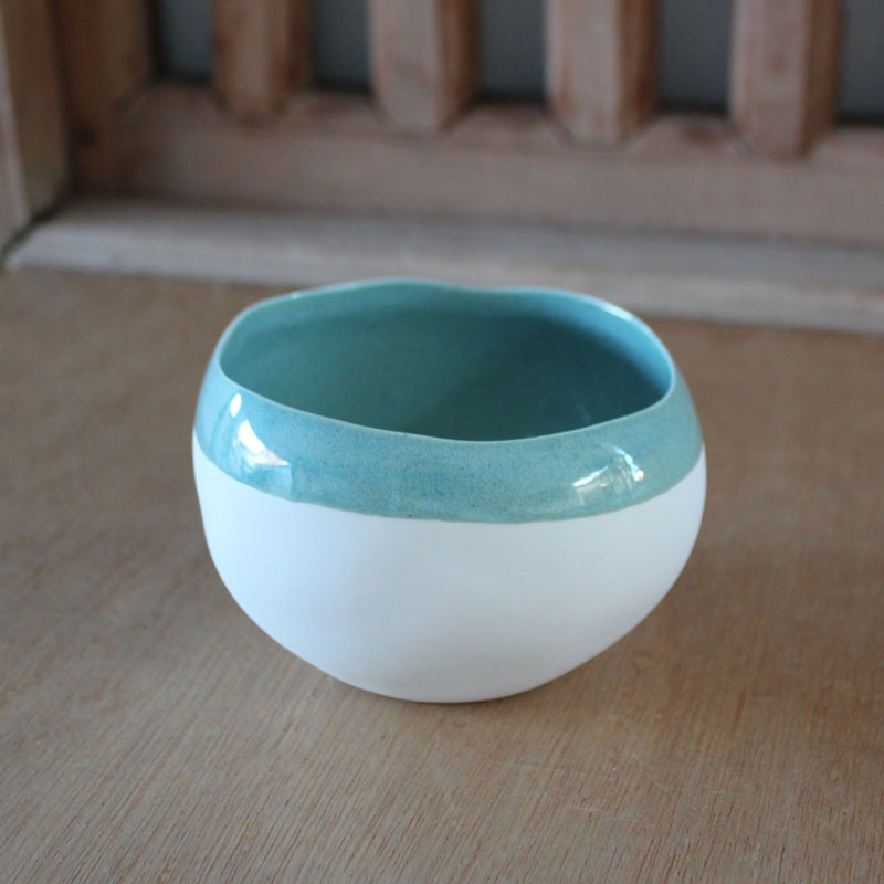 Mint Striped Dipping Bowl - The Chic Nest