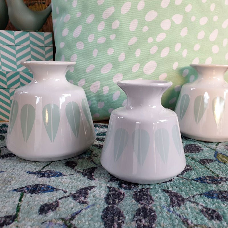Mint Patterned Vase