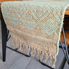 Sage Woven Table Runner - Handcrafted