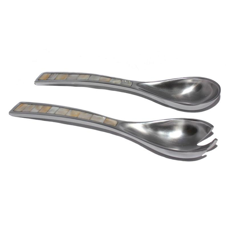 Handcrafted Salad Servers Set of 2 - The Chic Nest