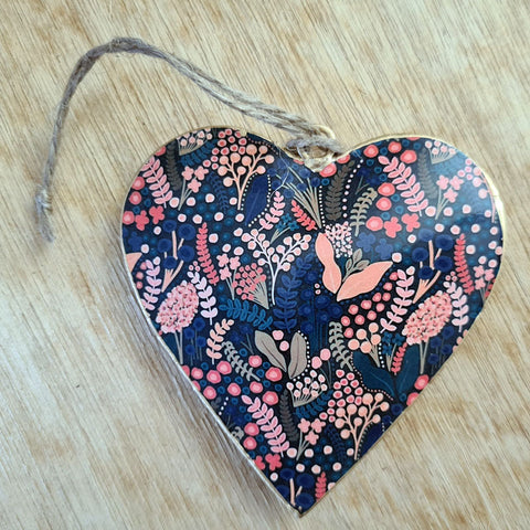 Multicolour Metal Heart Ornament