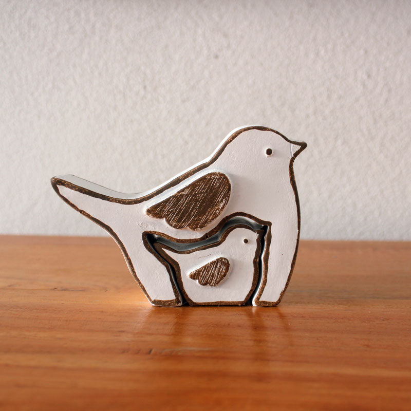 Mum & Bub Bird Figurine Set - The Chic Nest