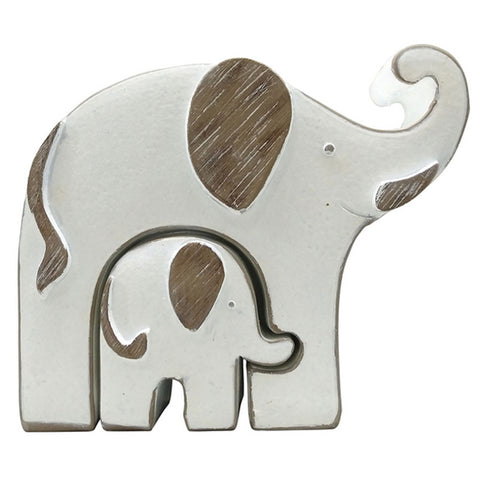 Mum & Bub Elephant Figurine Set - The Chic Nest