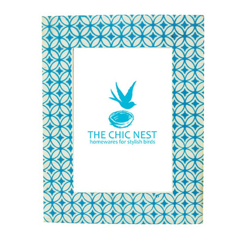 "Mural Photo Frame Turquoise 5 x 7"" - The Chic Nest"