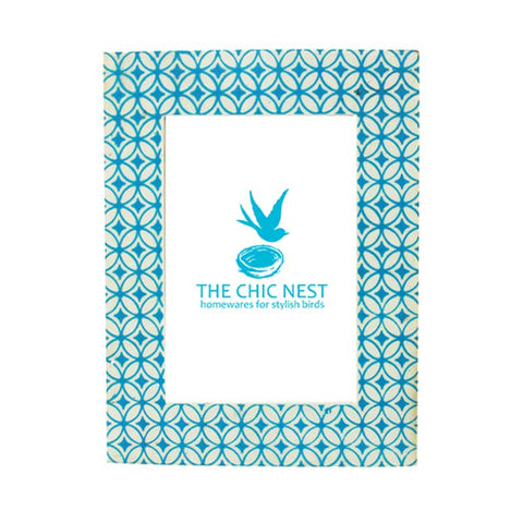 Mural Photo Frame Turquoise 4 x 6""