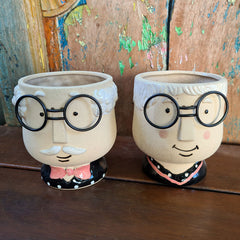 Pappa Planter With Glasses Plant Pot