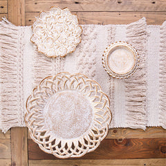 Natural Woven Table Runner - Handcrafted - The Chic Nest