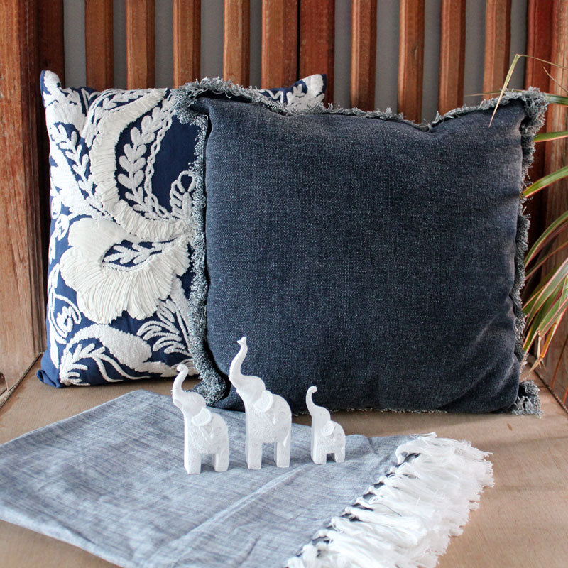 Set of 3 Elephants - White - The Chic Nest