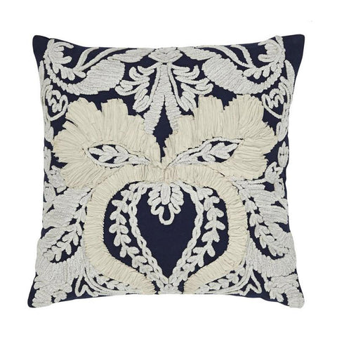 Navy Patterned Cushion