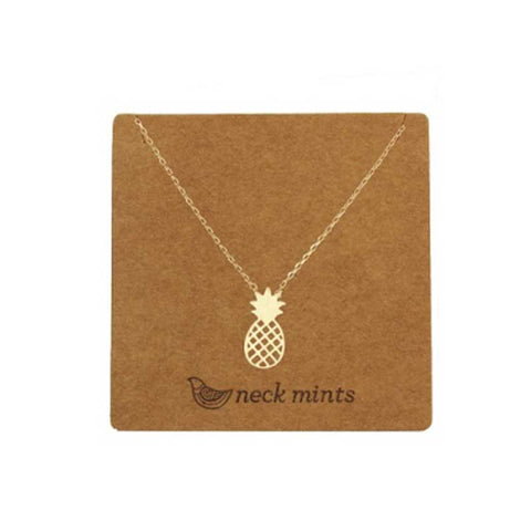 Pineapple Necklace Gold - Neck Mints