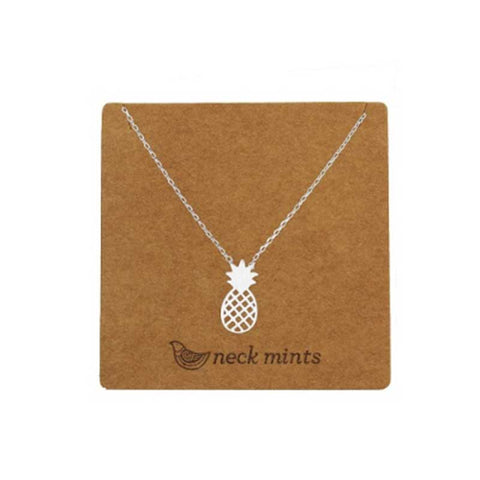 Pineapple Necklace Silver - Neck Mints
