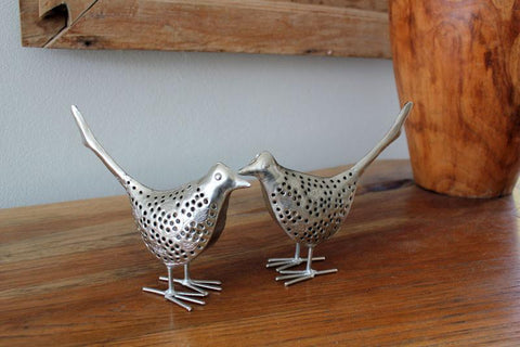 Nickel Bird Figurine - The Chic Nest