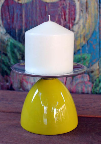 Olive Pillar Candle Holder - The Chic Nest