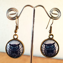Owl Brass Earrings