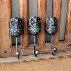 Owl Metal Wall Hook - The Chic Nest