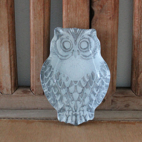 Owl Silver Plate