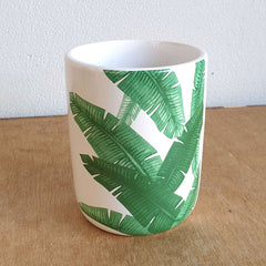 Palm Design Ceramic Planter Pot - The Chic Nest