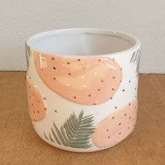 Palm Peach Ceramic Planter Pot - The Chic Nest